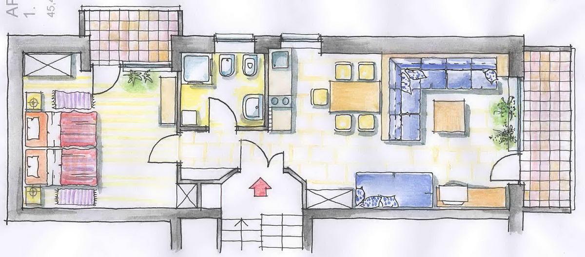 Apartman za 4 osobe N1
