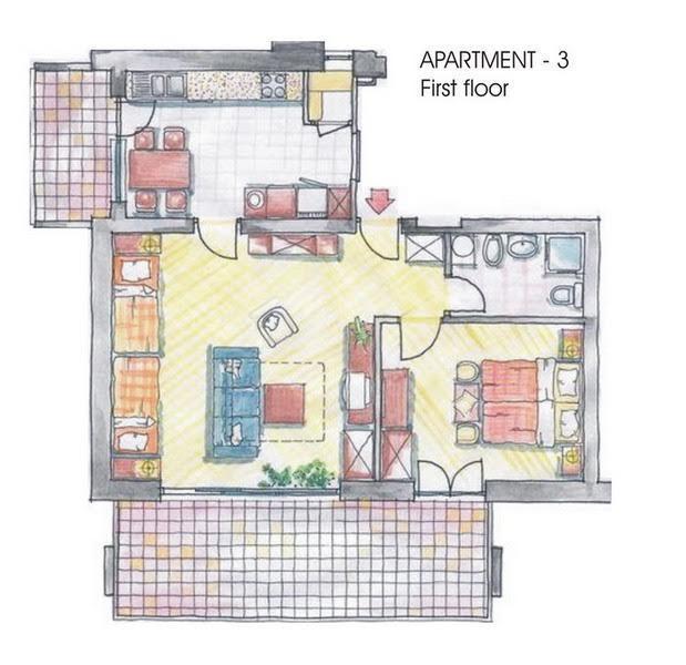 Apartman za 4 osobe N3